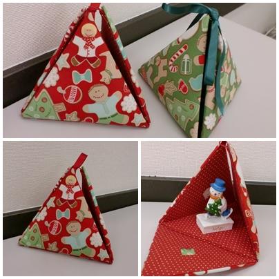 クリスマス三角オーナメント